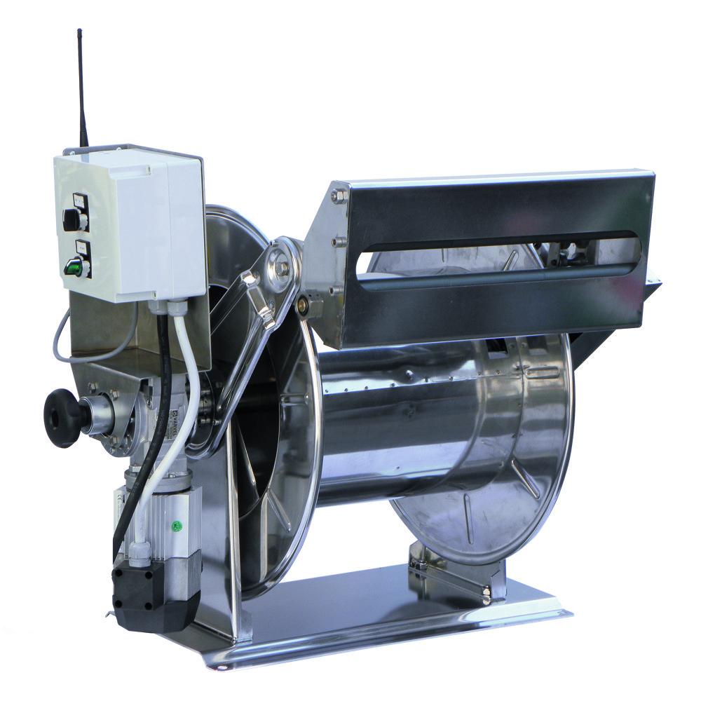 AVEK 1 - Carretes de manguera con motor eléctrico (12 V - 24 V - 230 V - 400 V)