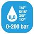 Carretes de manguera para agua - Presion 0-200 Bar / 0-2900 PSI