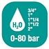 Carretes de mangueras para agua - Alto flujo 0-80 BAR / 0-1160 PSI
