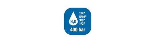 Carretes de manguera para agua -  Alta Presión hasta 400 bar / 5800 PSI