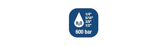 Carrete de manguera para agua- Alta presiòn hasta 600 BAR / 8700 PSI