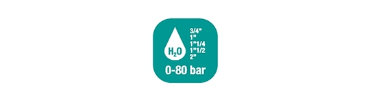 Carretes de mangueras para agua - Alto flujo 0-100 BAR / 0-1450 PSI